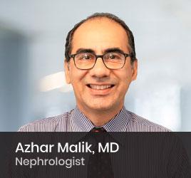 Nephrologist Azhar Malik, MD