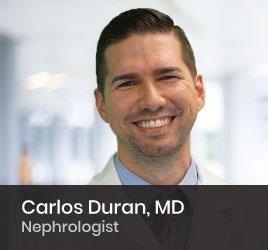 Nephrologist Carlos Duran, MD