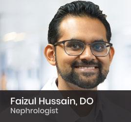 Nephrologist Faizul Hussain, DO