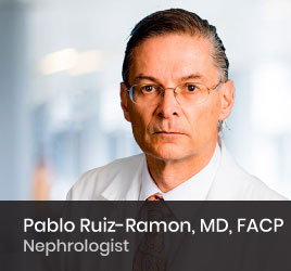 Nephrologist Pablo Ruiz-Ramon, MD, FACP