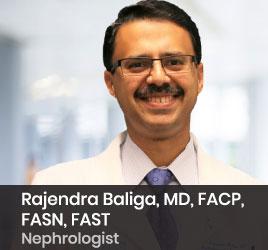 Nephrologist Rajendra Baliga, MD, FACP, FASN, FAST