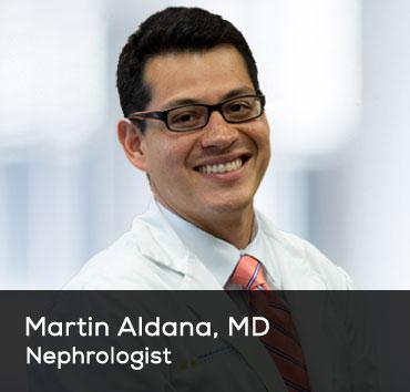Nephrologist Martin Aldana MD