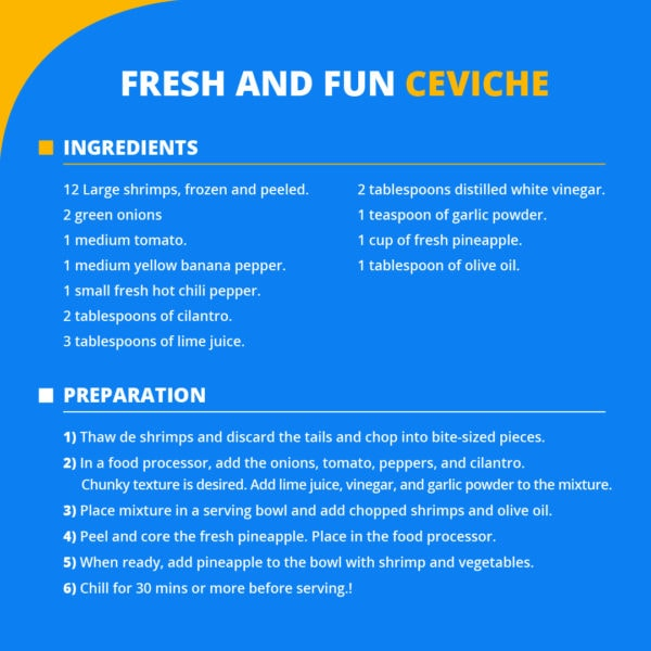 kidney friendly recipes Fresh Ceviche